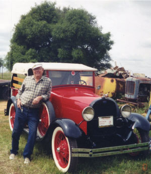hank welch and his Model A Car