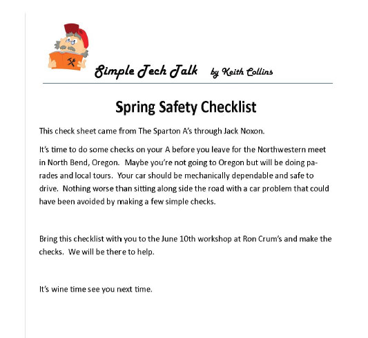 model-a-club-tech-spring-safety-checklist-article