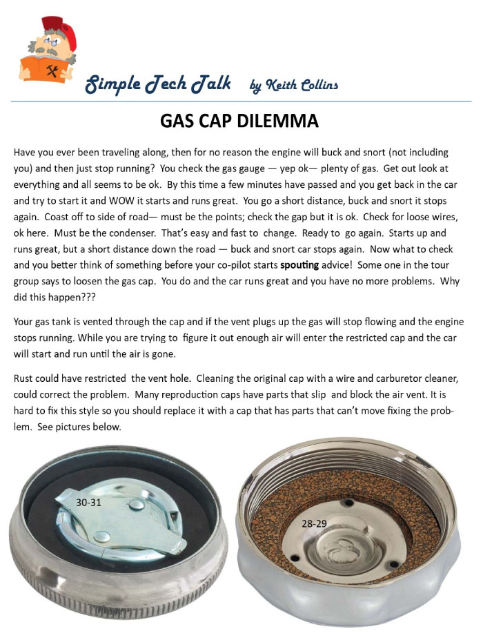 Gas Cap Dilemma