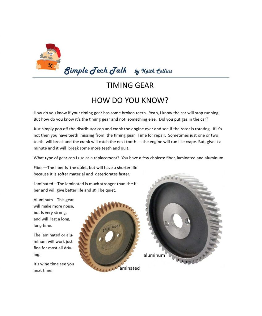 How to know if your timing gear has broken teeth?